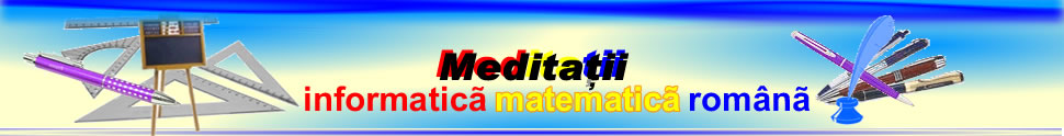 Meditatii cursuri  Meditatii After School / Before School Oferte